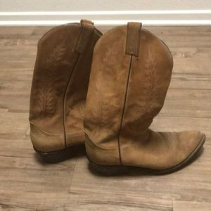 Men's Brown Size 8.5 Tony Lama Cowboy Boots